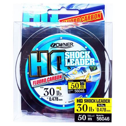 Флуорокарбонов шок лидер Owner HQ Shock Leader Fluorocarbon 50м