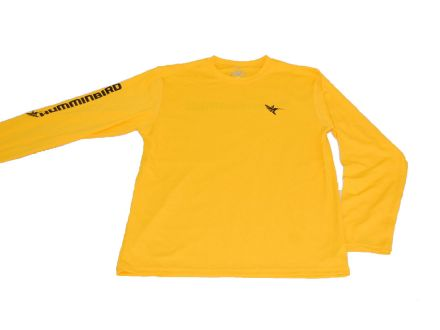 Humminbird Long Sleeve Performance Tee-Gold