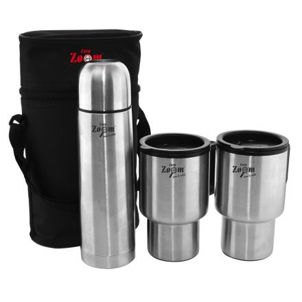 Комплект термос + чаши Carp Zoom ThermoBottle & Mug Set, 3pcs