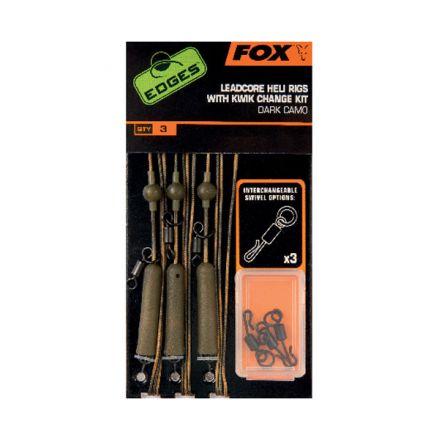 Монтаж Fox Edges Dark Camo leadcore Heil rigs