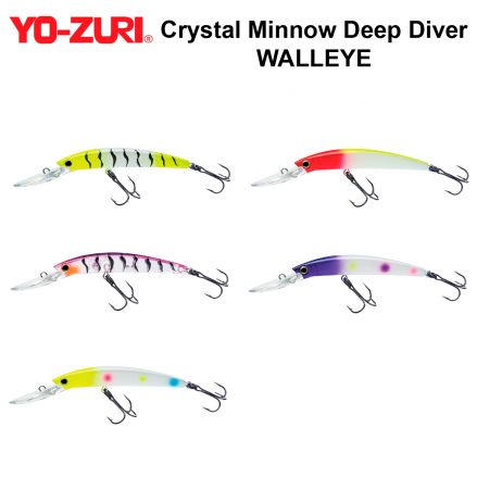 воблери Yo-Zuri Crystal Minnow Deep Diver WALLEYE R1206