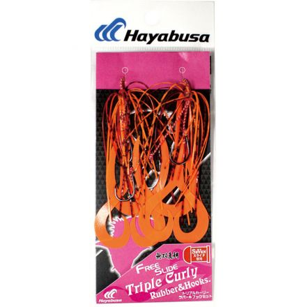 Тай ръбър с куки Hayabusa Free Slide TRIPLE Curly Rubber & Hooks SE155