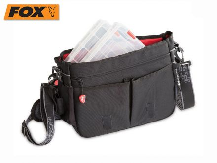 Fox Rage Voyager Messenger Bag & 2 Medium Shallow Tackle Boxes