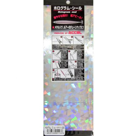 Accel Hologram Seal 10 Silver Shell