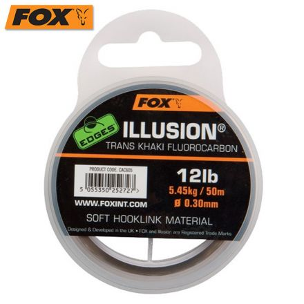 Fox Edges Illusion Soft Hooklink Trans Khaki