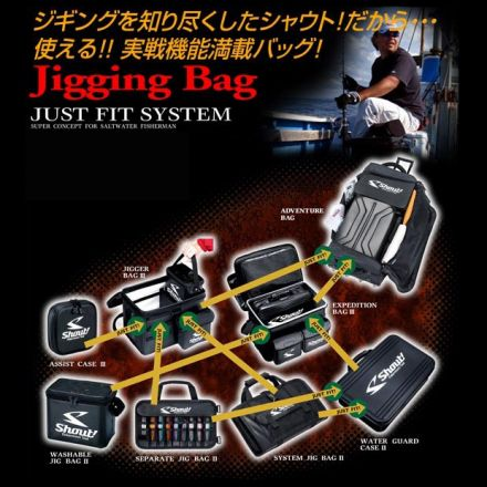 Класьор за джигове и пилкери Shout System Jig Bag III 524SJ