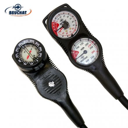 Beuchat 3 ELEMENTS GAUGE - Depth gauge + Compass + Pressure Gauge