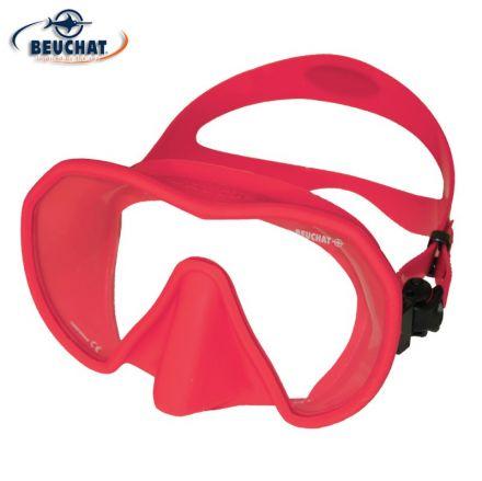 Силиконова маска Beuchat MaxLux S (светло червен силикон)