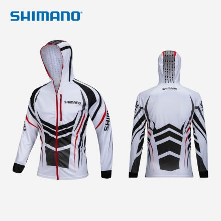 Shimano Anti-UV Hooded Long Sleeve Shirt