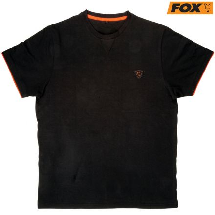Тениска Fox Black Orange Brushed Cotton T