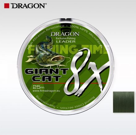 Повод за сом Dragon Giant Cat 8X Leader 25m