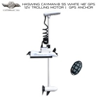 "Haswing Cayman-B 55 Lbs GPS 48"" Shaft WHITE"