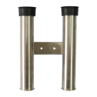 Rod holder 2 rods, INOX  wall mount