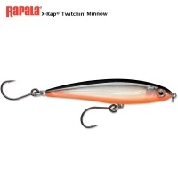Rapala X-Rap Twitchin' Minnow Red Belly 10cm