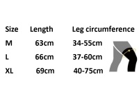 Daiwa Cool LEG COVER sizes chart