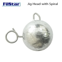 Jig head with eye and spiral