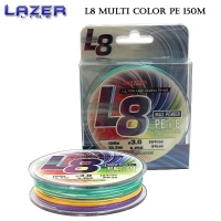 Lazer PE Braid L8 Multicolor 150m  #1.2