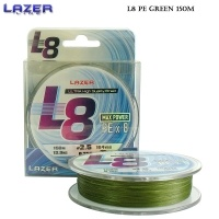 Lazer PE Braid L8 Green 150m #1.2