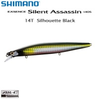Shimano Exsence Silent Assassin 140S 14T Silhouette Black