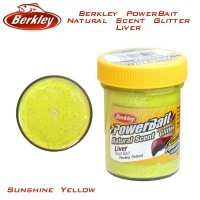Berkley PowerBait Natural Scent Glitter Liver Sunshine Yellow