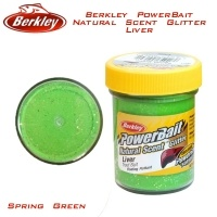 Berkley PowerBait Natural Scent Glitter Liver Spring Green