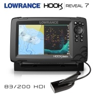 Lowrance Hook REVEAL 7 | 50/200 HDI Transducer