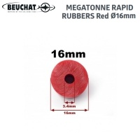 Beuchat MEGATONNE Rapid Rubber 16mm