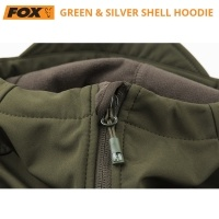 Софтшел яке Fox Collection Green & Silver Shell Hoodie