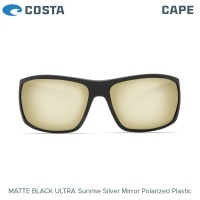 Слънчеви очила Costa Cape | Matte Black Ultra | Sunrise Silver Mirror 580P | CAP 187 OSSP
