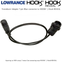 Lowrance 7-Pin Transducer Adapter Cable to HOOK²  | Hook REVEAL