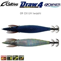 Калмарка Owner Draw4 EXP EGI Squid Jig 3.5 #09 Oil UV Iwashi
