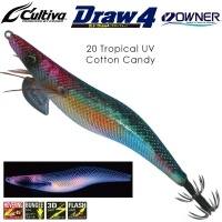 Калмарка Owner Draw4 EXP EGI Squid Jig 3.5 #20 Tropical UV Cotton Candy