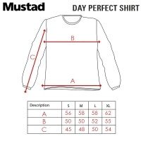 Mustad Day Perfect Shirt BBS Camo MCTS05-CM | Size Chart
