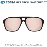 Costa OCEARCH Switchfoot | Shiny Black | Copper Silver Mirror 580P | Очила