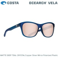 Costa OCEARCH Vela | Matte Deep Teal Crystal | Copper Silver Mirror 580P | Sunglasses