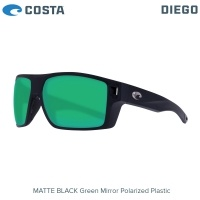 Costa Diego | Matte Black | Green Mirror 580P | Очила