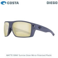 Costa Diego | Matte Gray | Sunrise Silver Mirror 580P | Очила