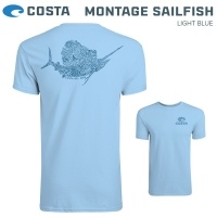 Costa Montage Sailfish SS | Short Sleeve | Men's Т-Shirt | Light Blue Color | MONTSAIL-LB