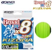 Owner KIZUNA x8 135m | Chartreuse Braided Line