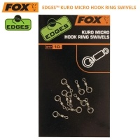 Fox Edges Kuro Micro Hook Ring Swivels | Вирбели с микро ринг