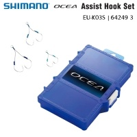 Комплект асист куки Shimano Ocea Assist Hook Set EU-K03S | 64249 | 12 x 2/0