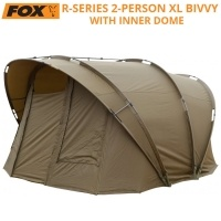 Двуместна двуслойна палатка Fox R Series 2 Man XL Khaki Bivvy with Inner Dome | CUM250