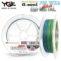 YGK Real Sports G-soul PE Egi-Ika Metal WX4 150m | PE Line for Long Casts