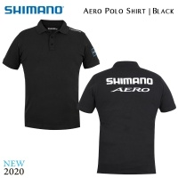Shimano Aero Polo Shirt | Black