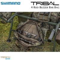 Shimano Tribal Trench Gear 4 Rod Buzzer Bar Bag | SHTTG16