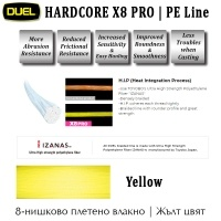 Duel Hardcore X8 PRO Yellow PE Line | Features
