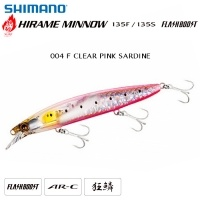 Shimano Hirame Minnow 135S Flash Boost | 004 F CLEAR PINK SARDINE