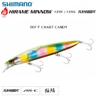 Shimano Hirame Minnow 135S Flash Boost | 007 F CHART CANDY