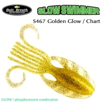Силиконова примамка Bait Breath Slow Swimmer S467 Golden Glow Chart