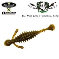 Силиконова примамка Bait Breath U30 RUI 160 Mud Green Pumpkin / Seed